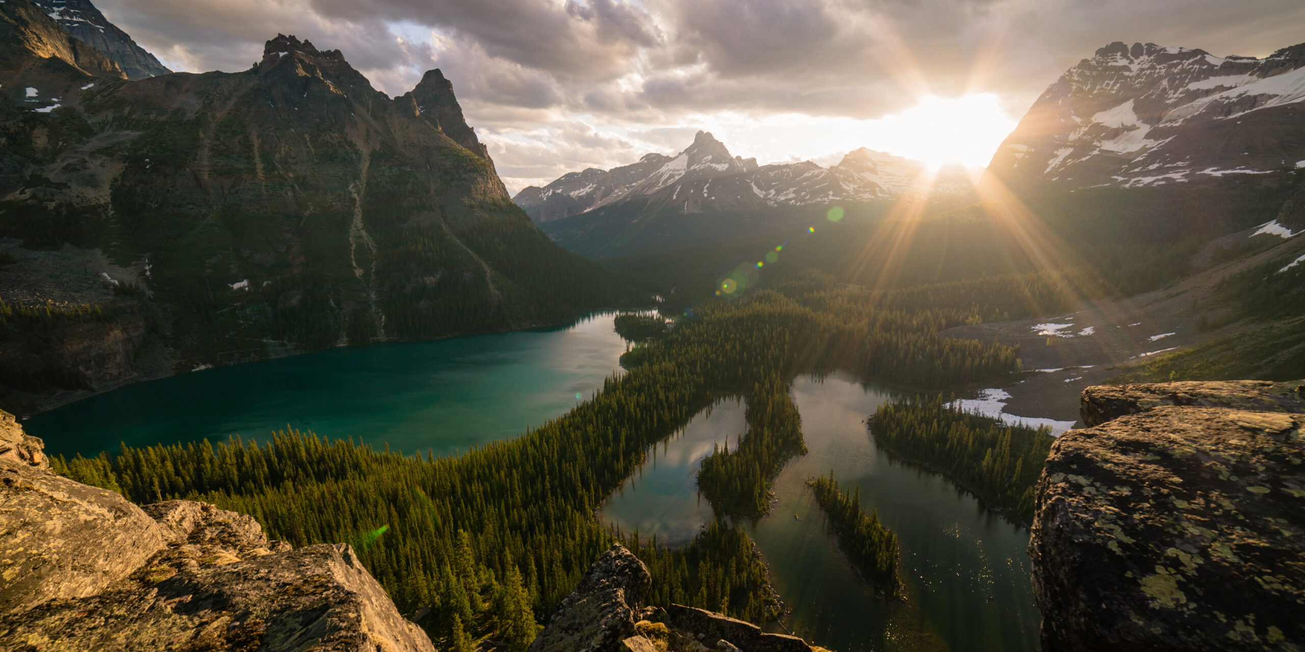 Mountain Lakes during Sunset