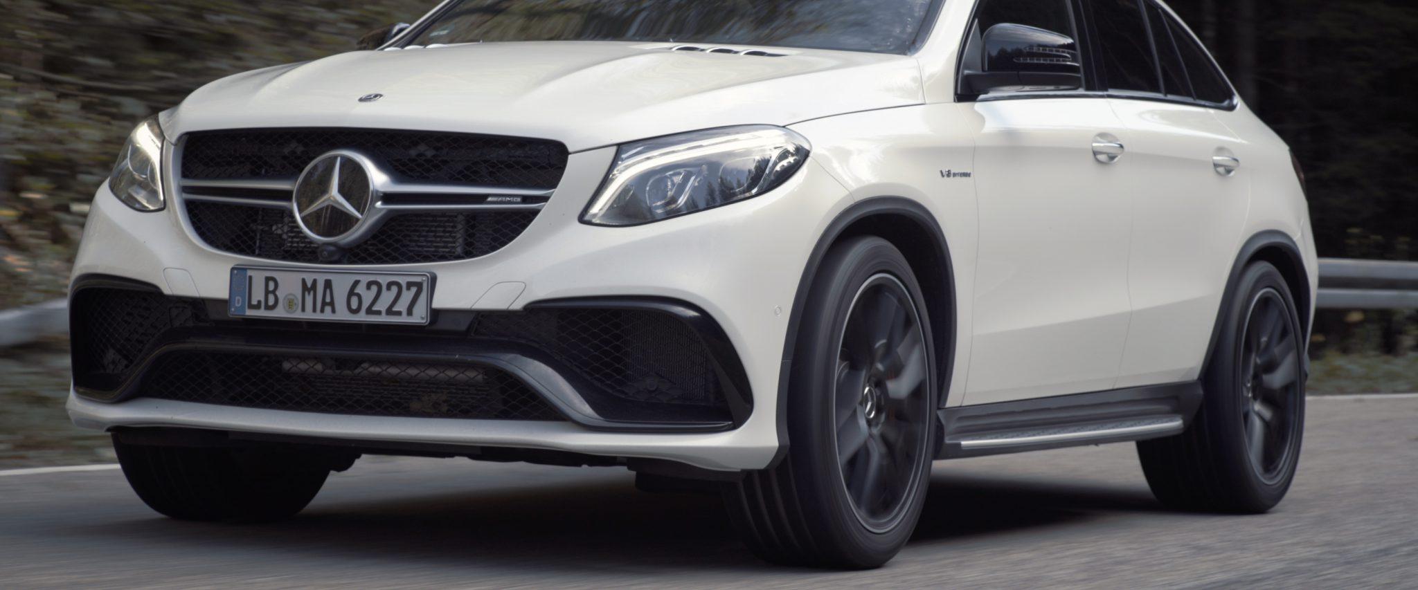 Mercedes-Benz car driving fast